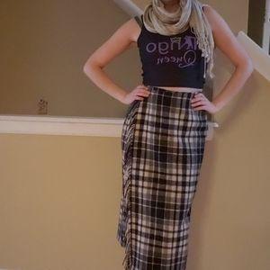 Plaid Eddie Bauer Wool Skirt Size 10 petite/Medium